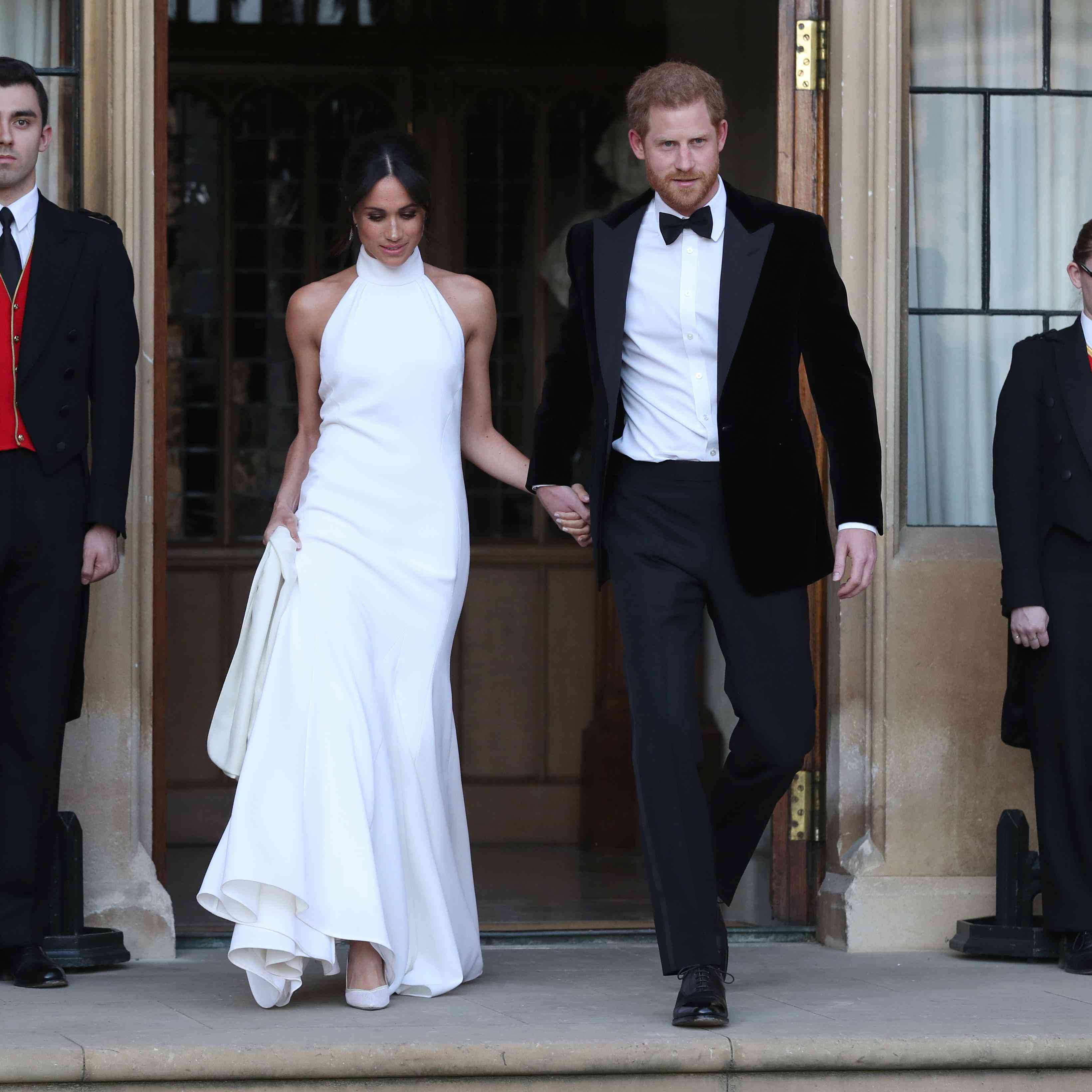 Meghan Markle Wedding Pictures.Meghan Markle S Second Royal Wedding Dress Get The Look
