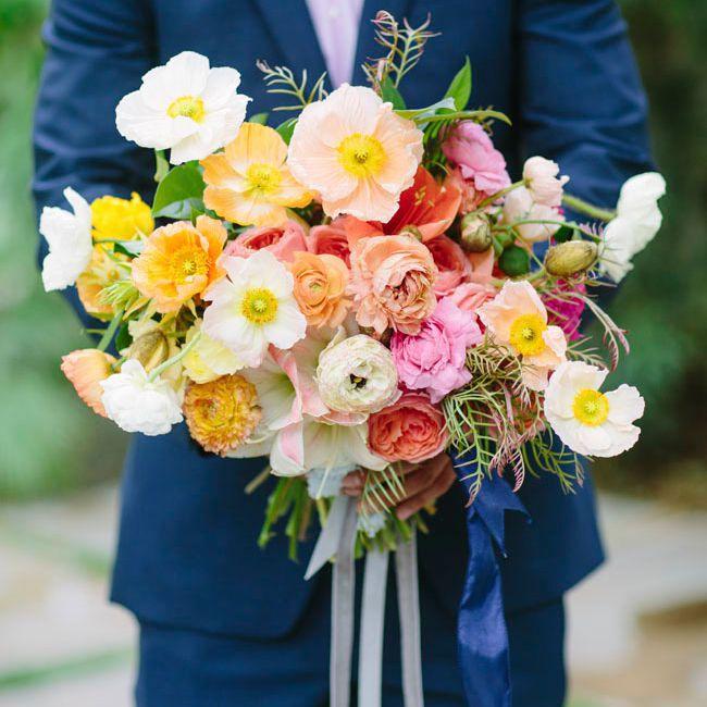 poppy wedding bouquet