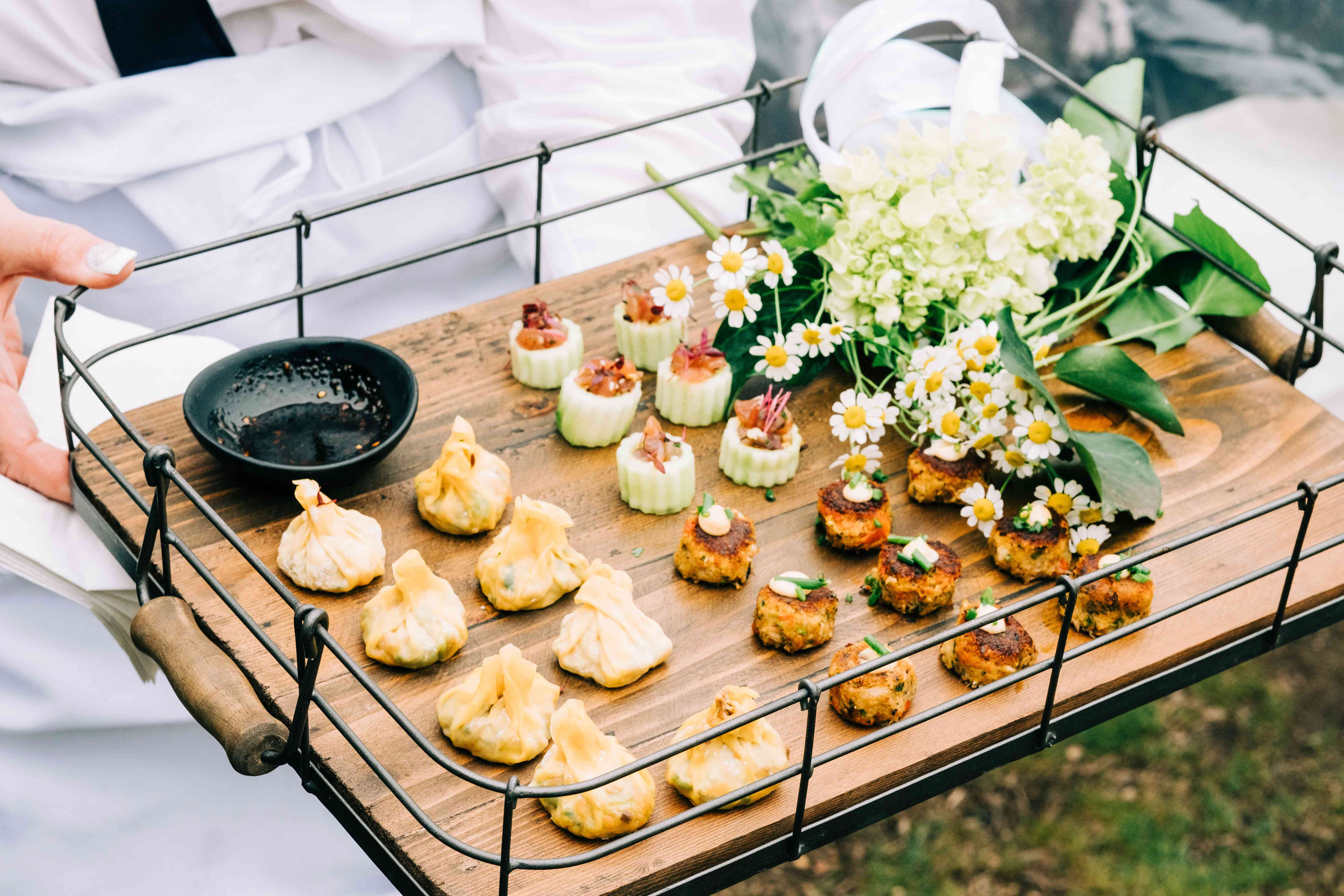 <p>cocktail hour food</p><br><br>