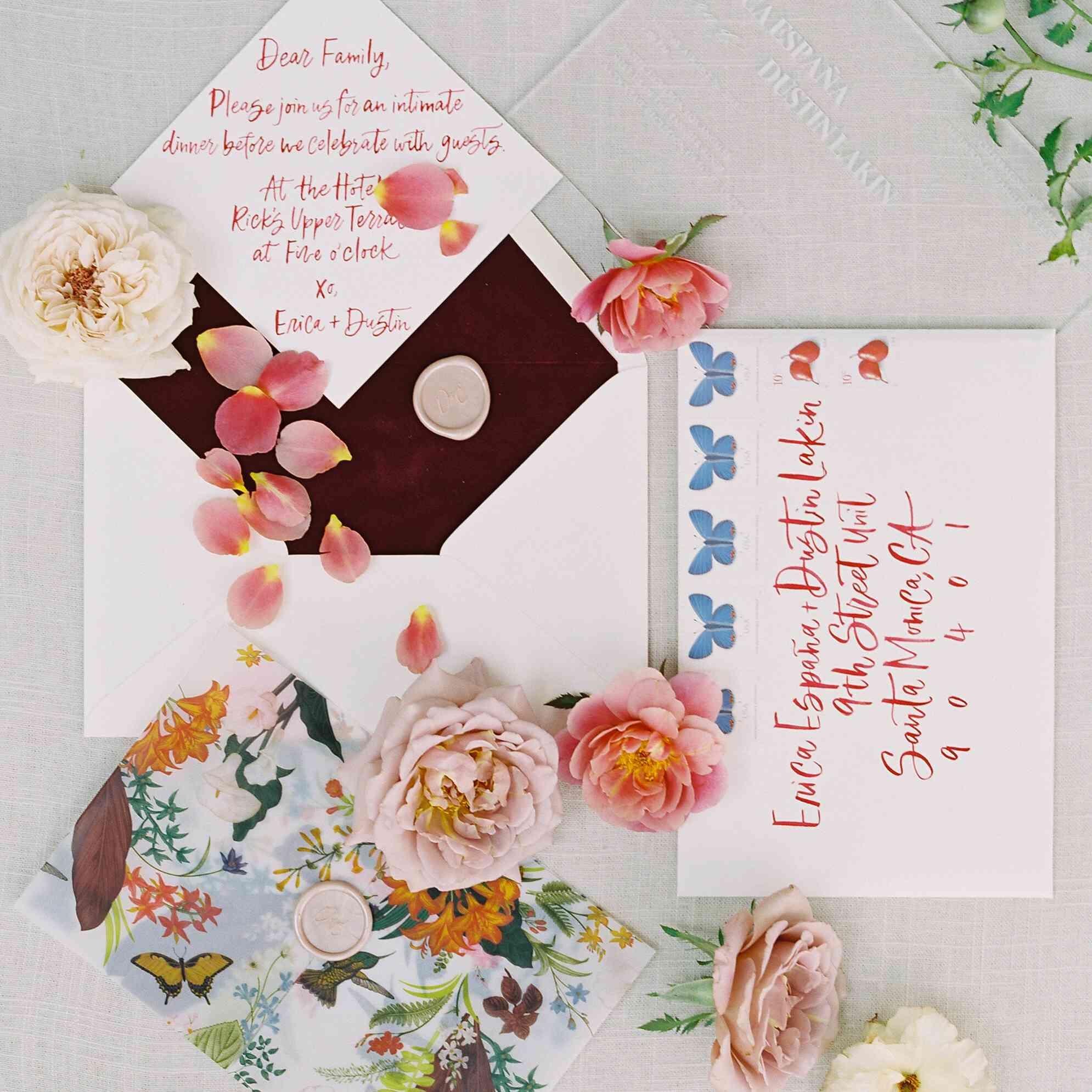 Floral invitation suite