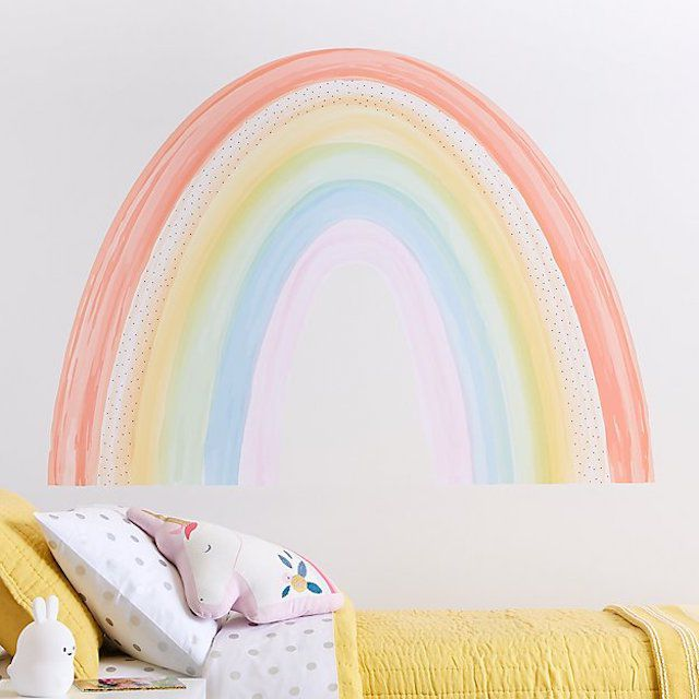 Crate and Barrel Rainbow Wall Decal
