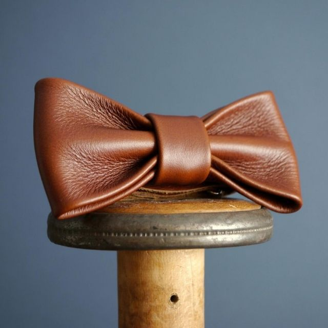 KingsleyLeather Leather Bow Tie