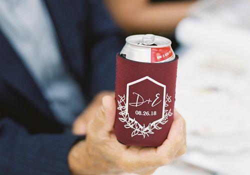 Custom beer koozie