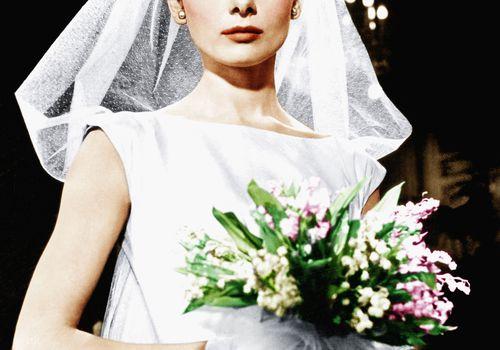 Audrey Hepburn as a bride