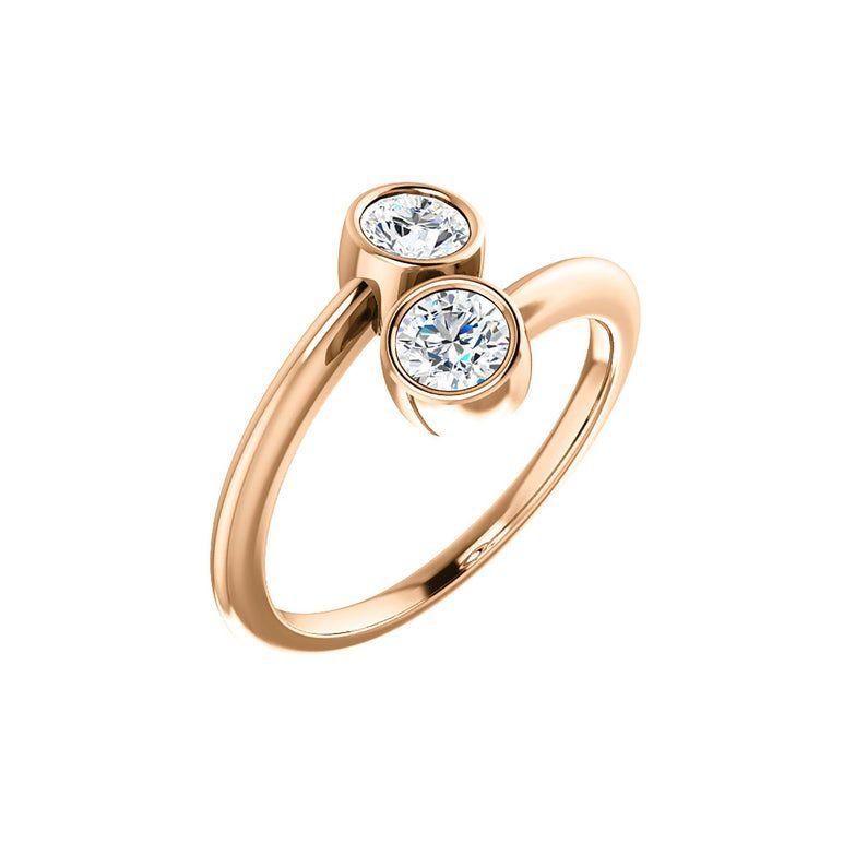 Golden Lilo Dual Stone Diamond Ring