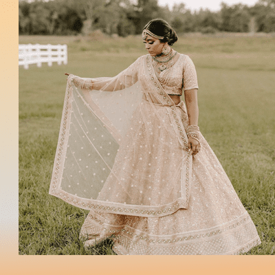 traditional indian wedding gown