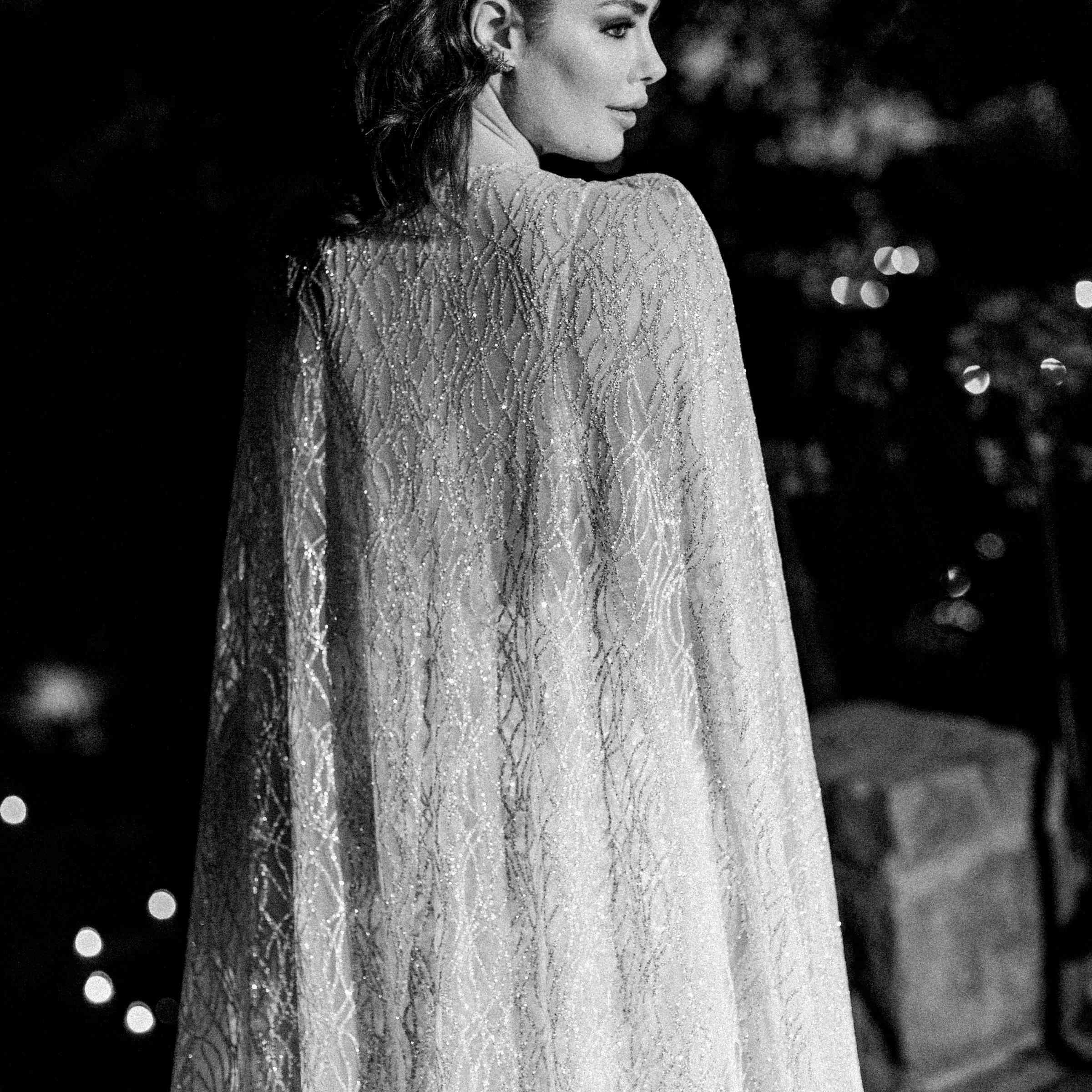 bride in cape