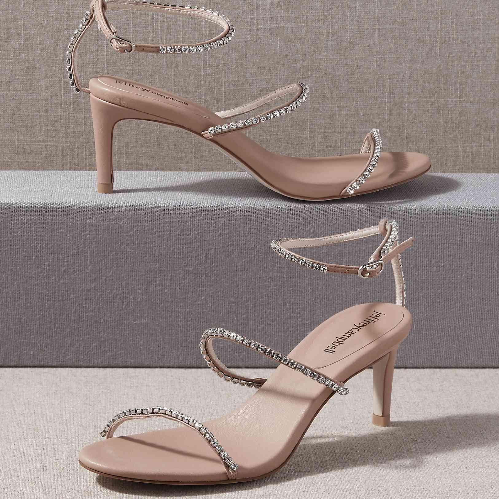 crystal strap shoes