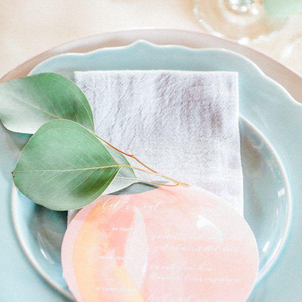 Paper Peach Wedding Menu