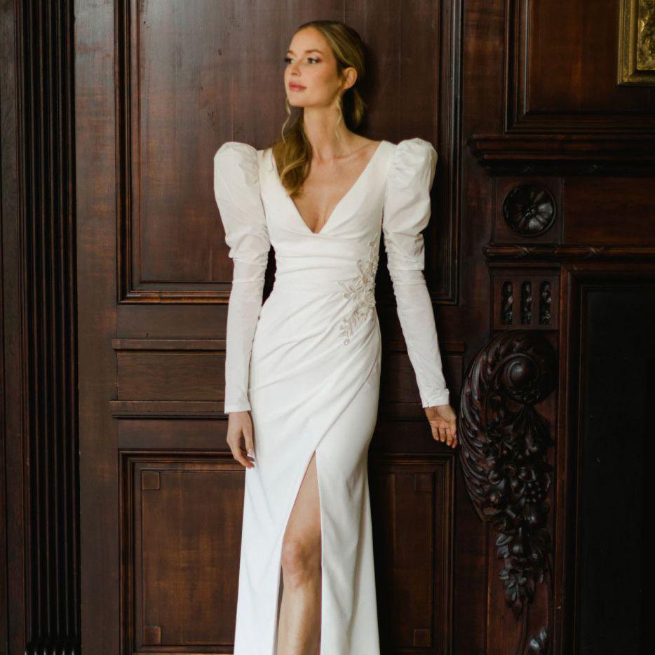 long sleeve gown Verdin New York