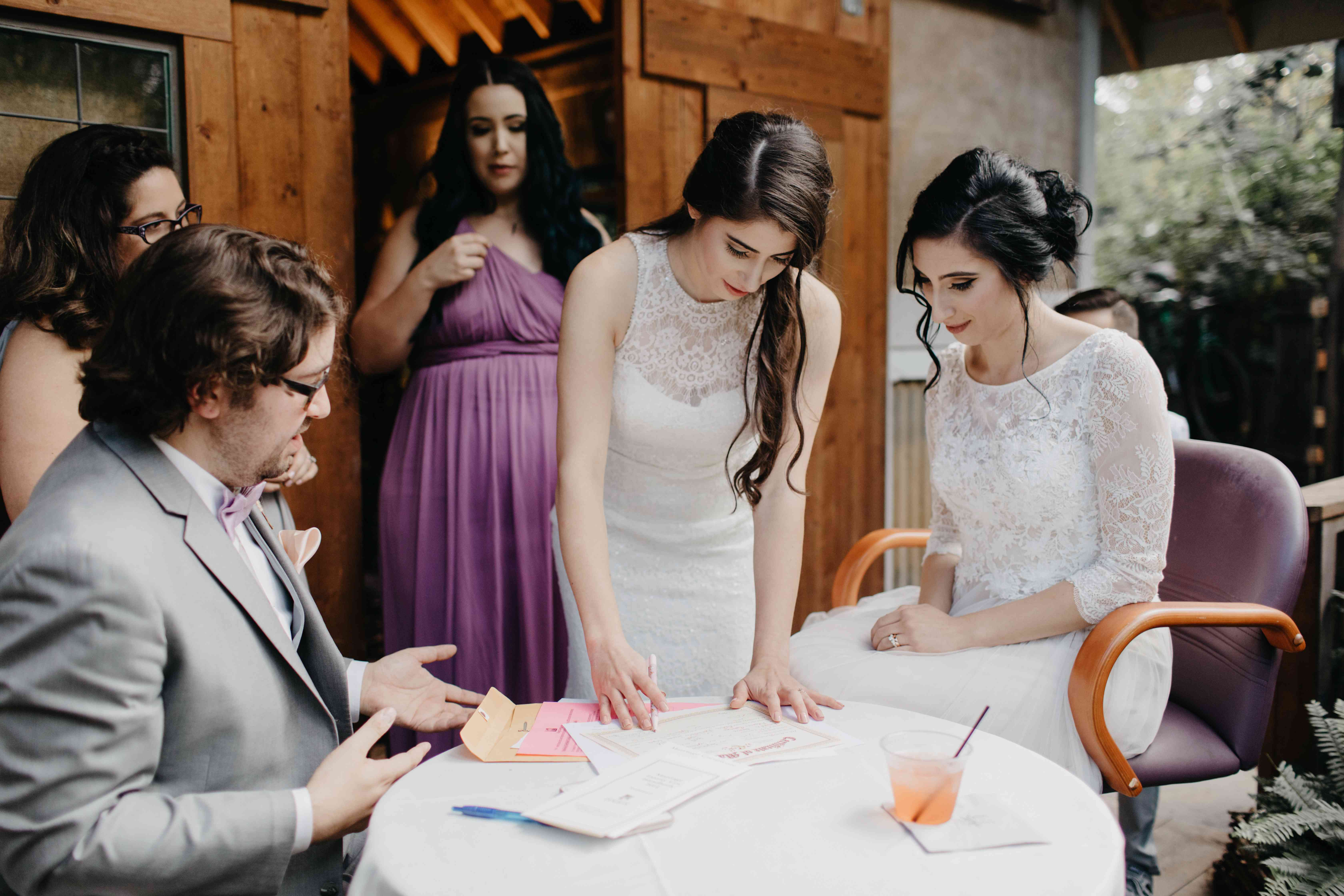 Signing of the marriage license