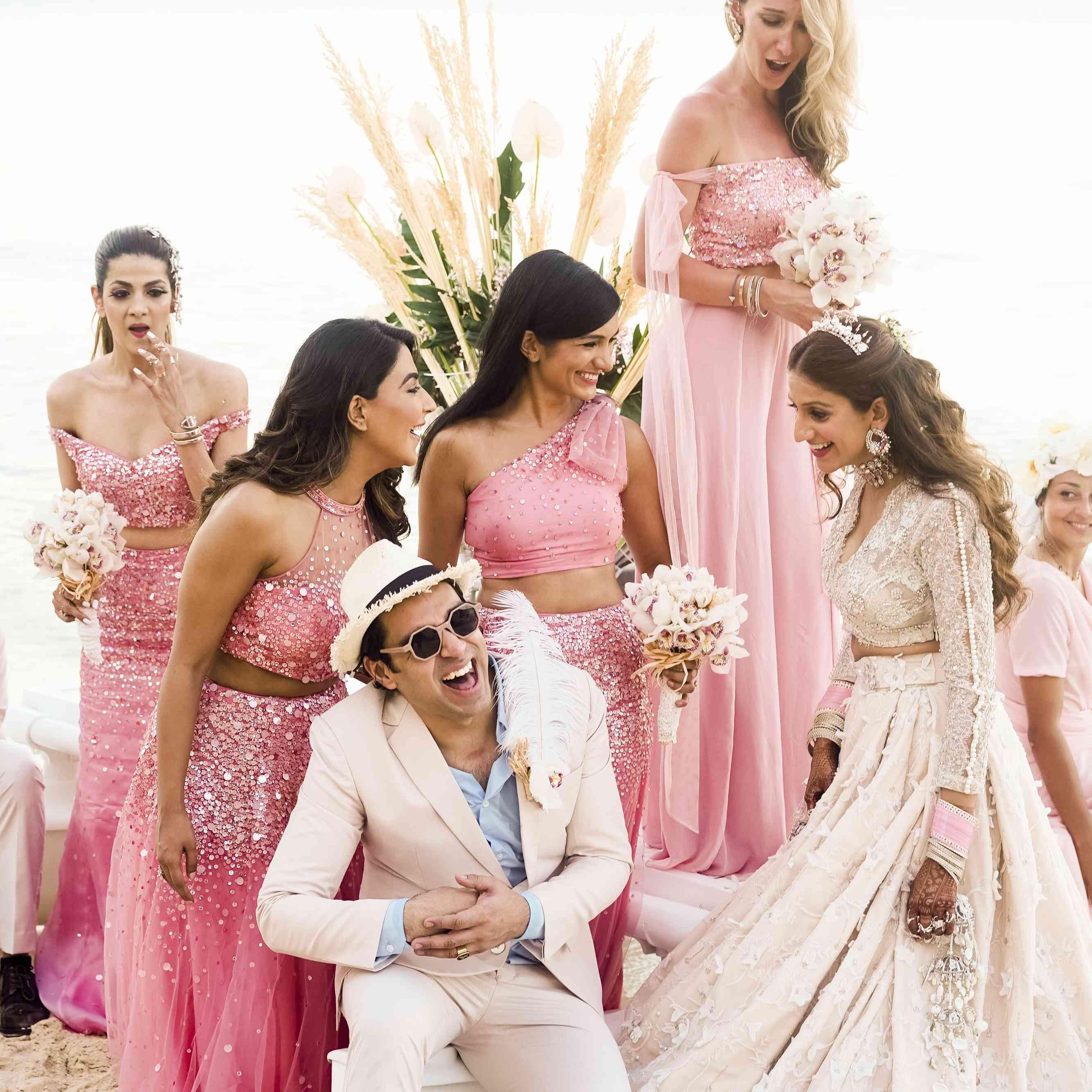 indian bridesmaids