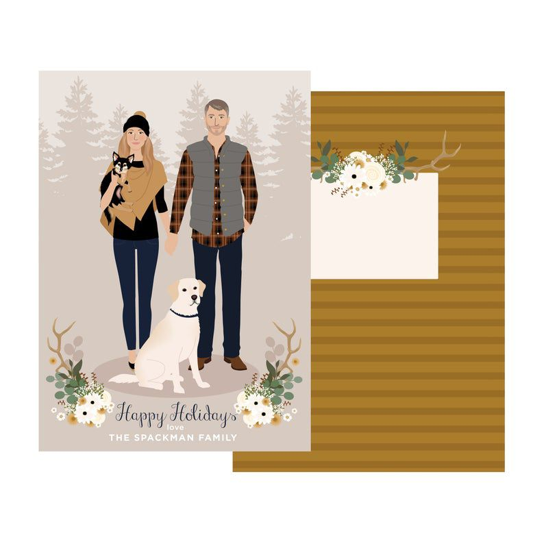 Henry James Paper Goods Custom Portrait Christmas Card