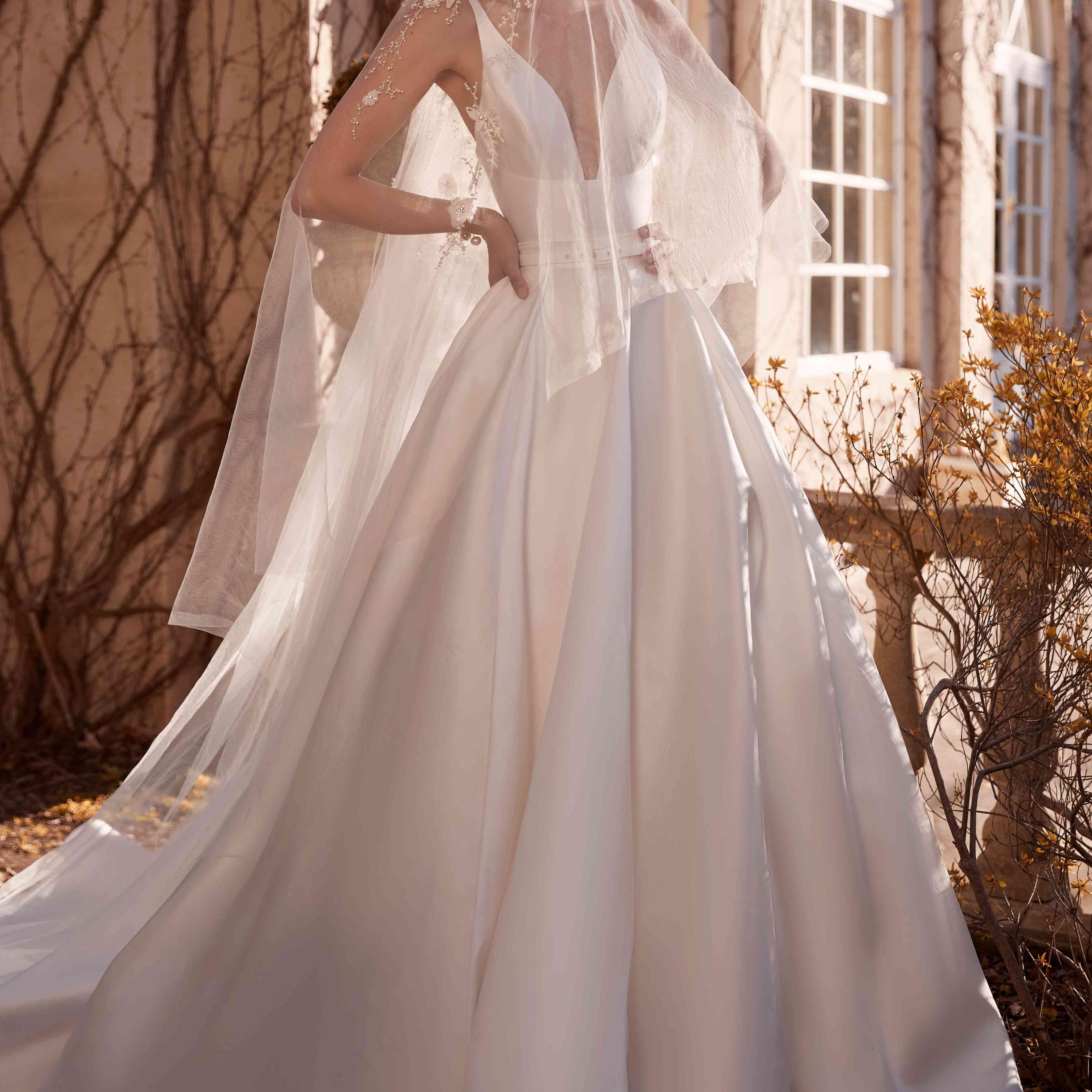 Primrose wedding veil