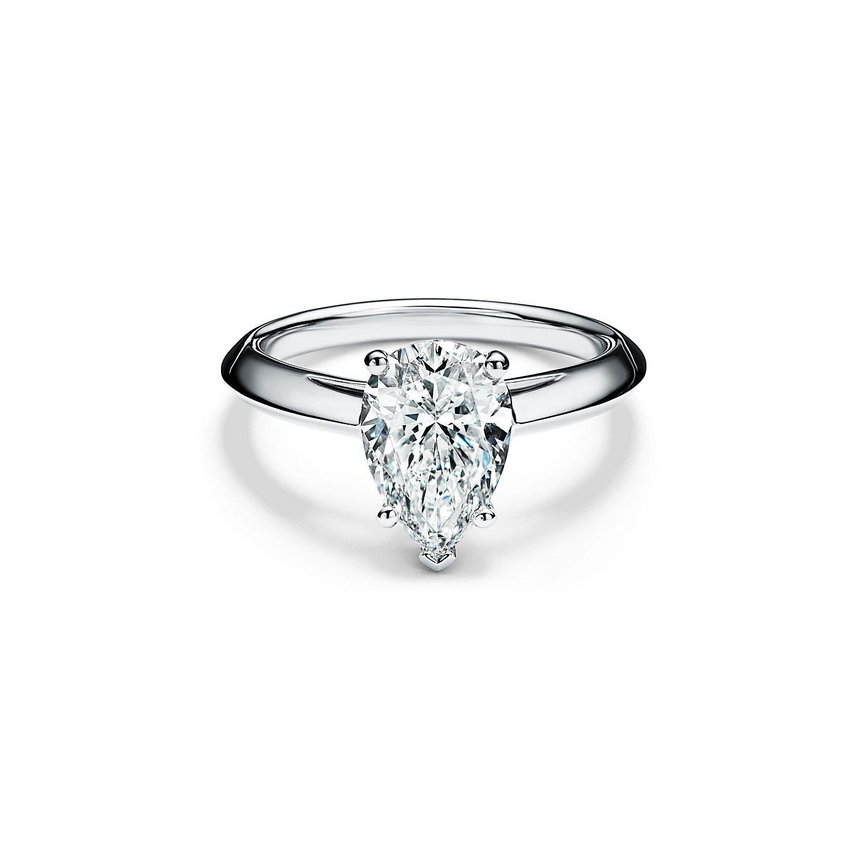 Tiffany Pear-Shaped Diamond Engagement Ring