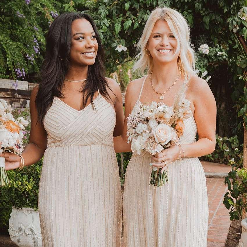 beaded bridesmaid