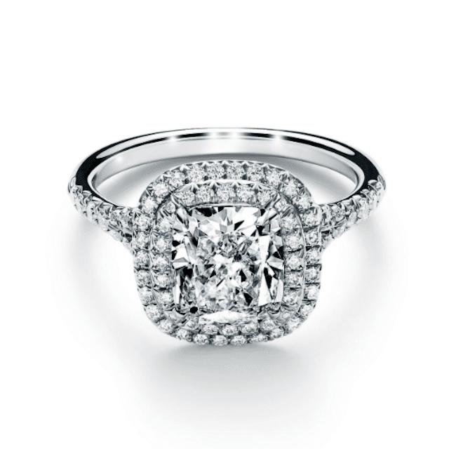 Soleste Cushion-Cut Double Halo Engagement Ring