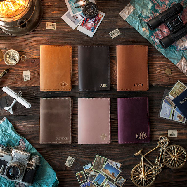 Leather Personalized Passport Cover