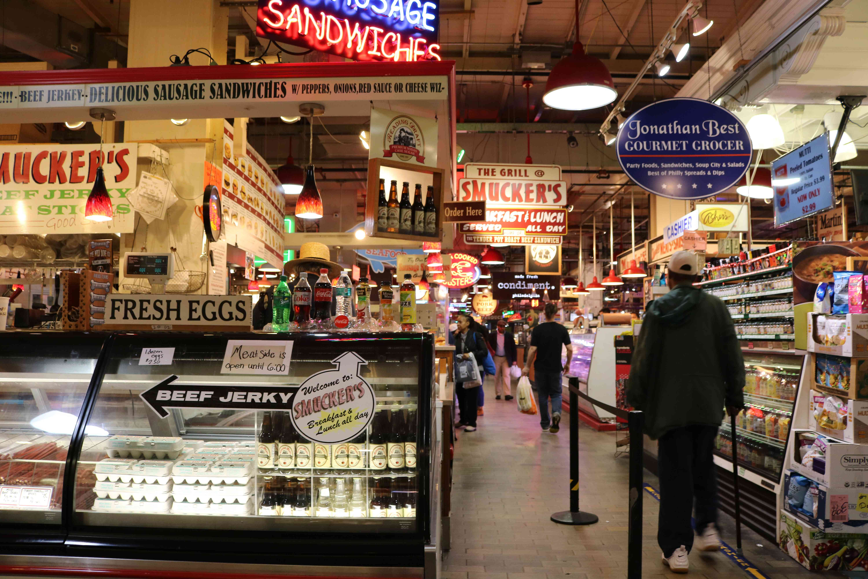 Interior of Reading Terminal Market in Philadelphia, PA