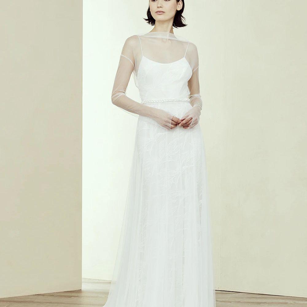 sheer sleeves dress