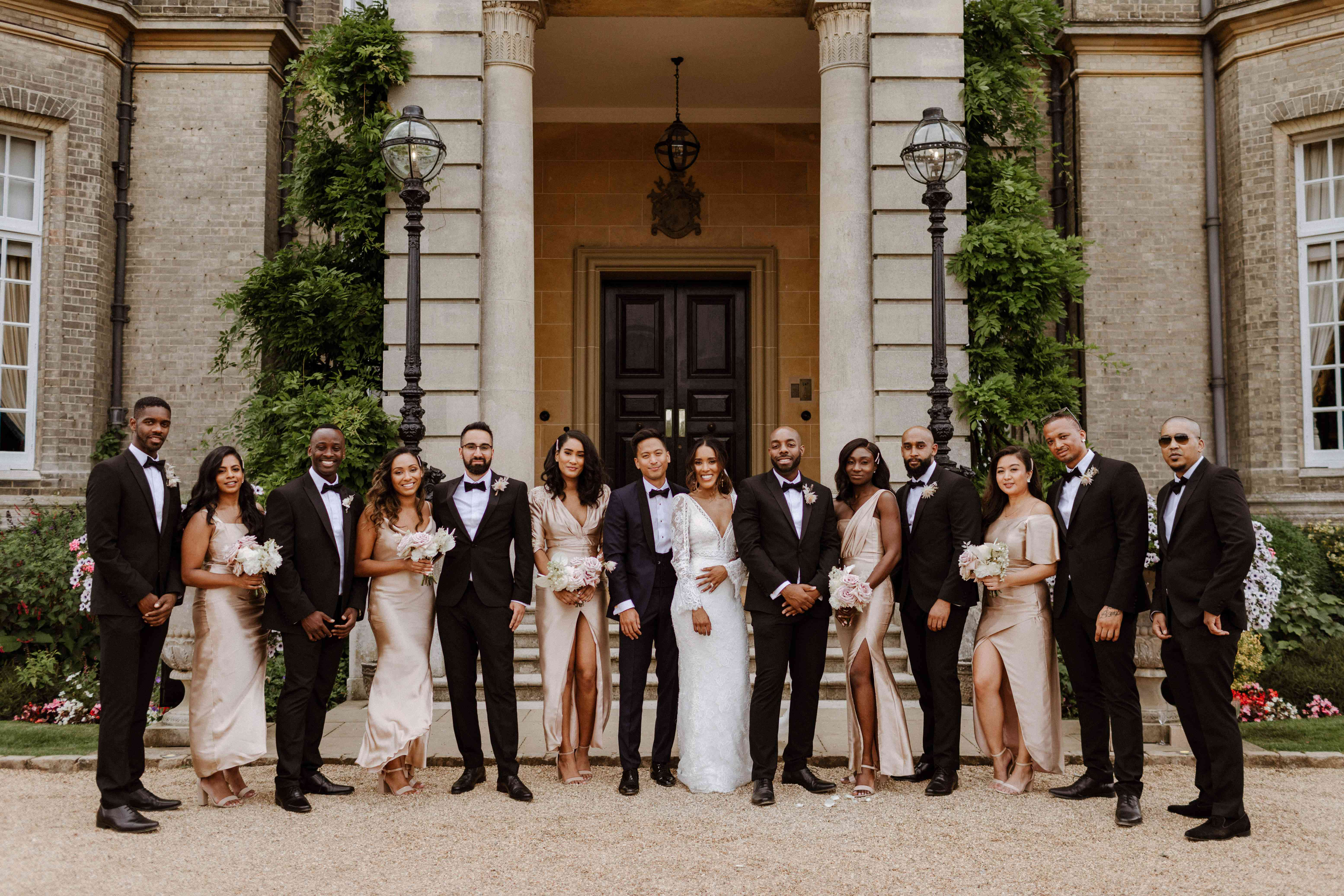 The bridal and grooms party