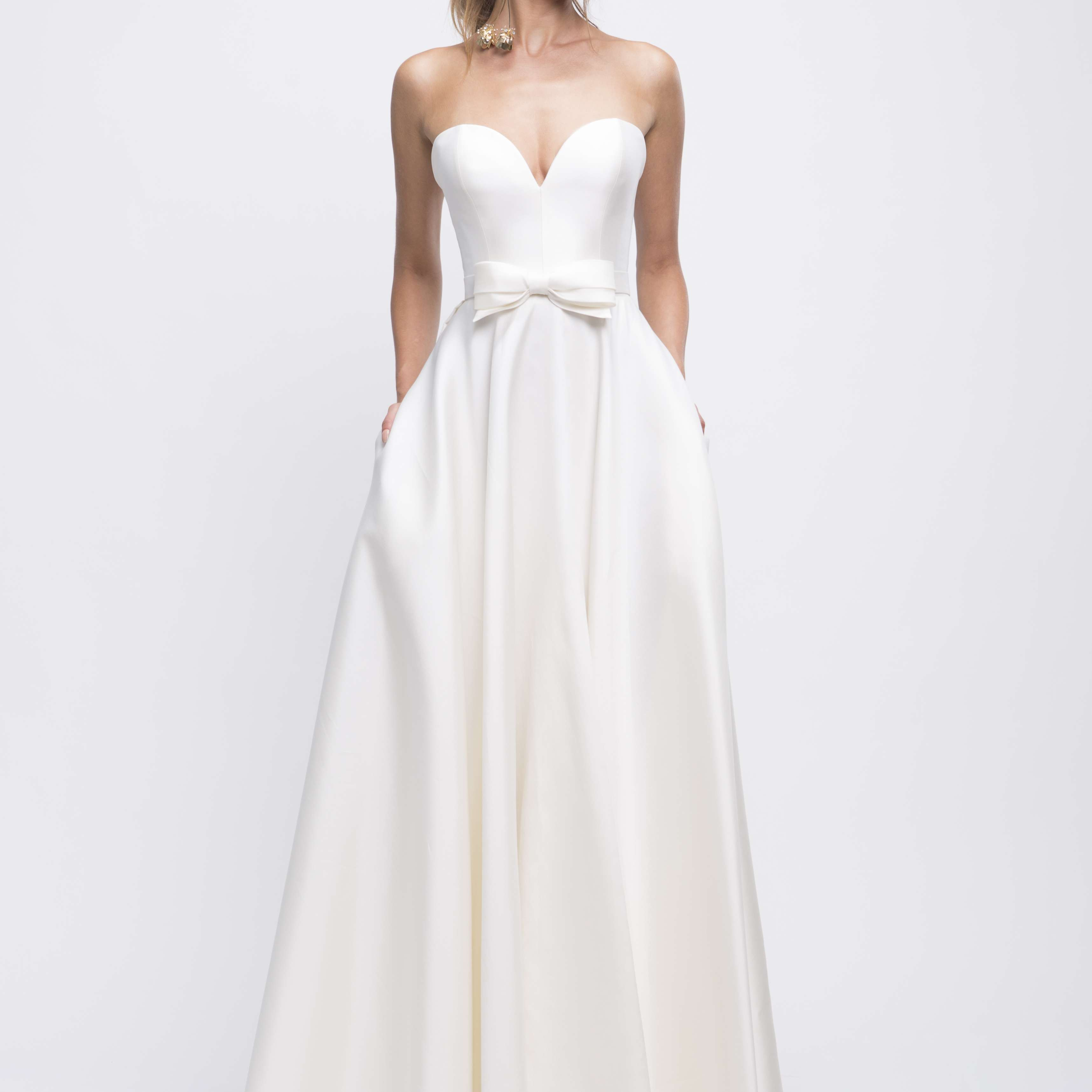 Audrey strapless wedding dress