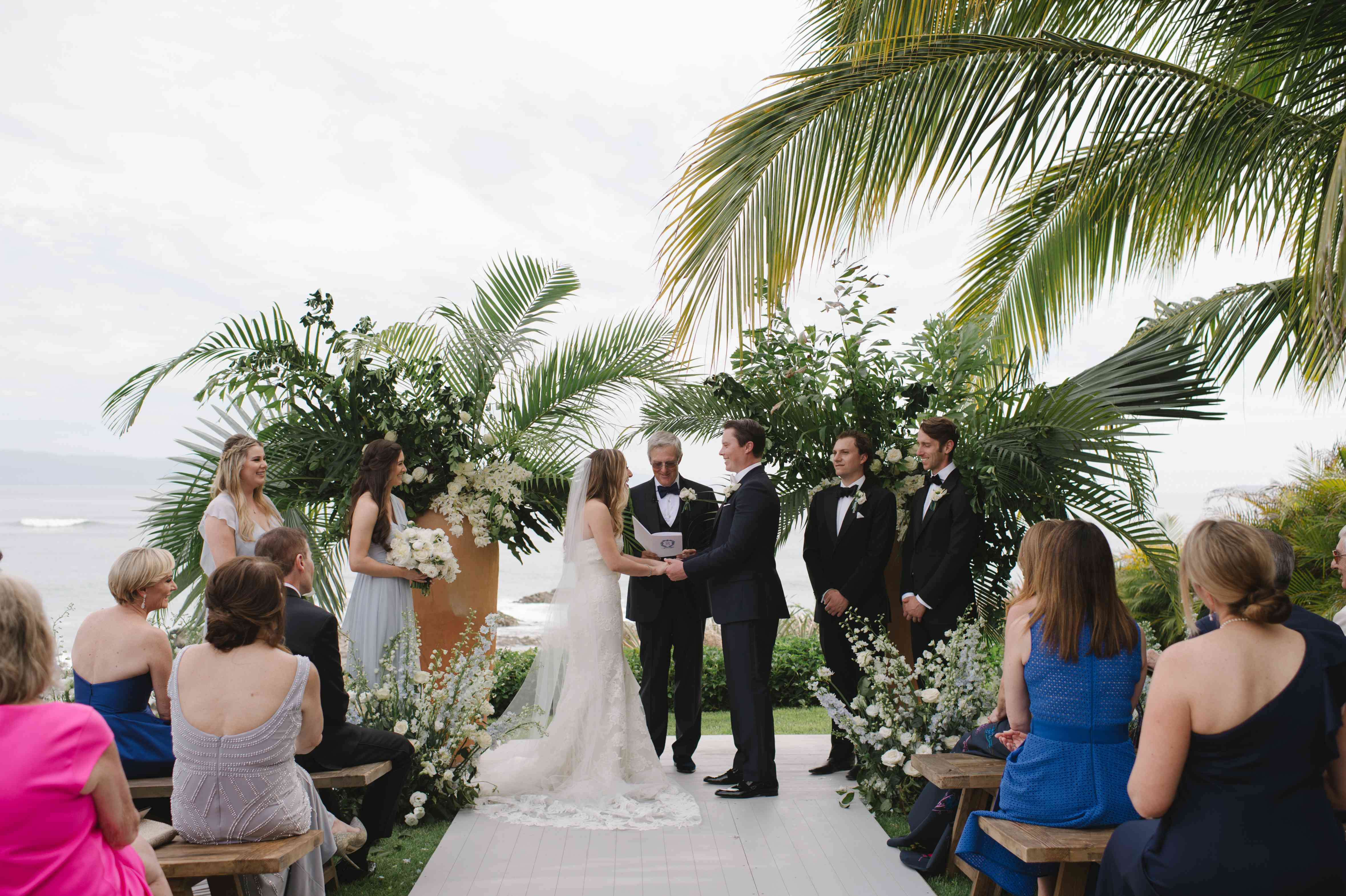 The couple exchange vows