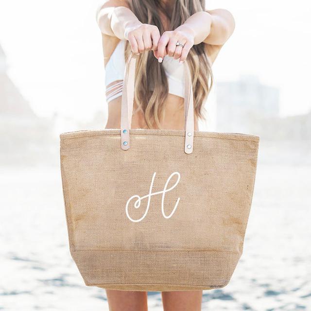 Mod Party Monogram Beach Bag