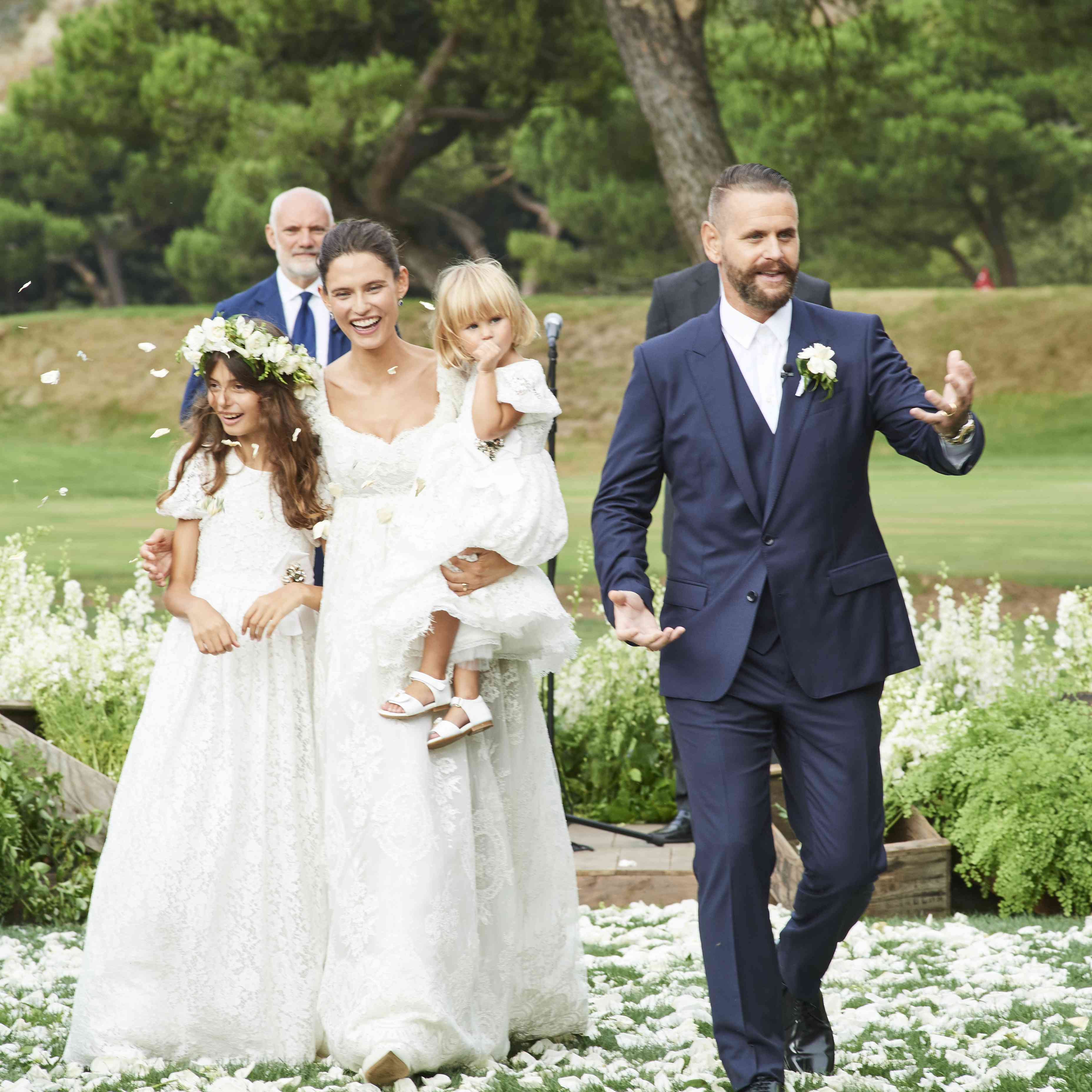 Bride and Groom with Daughters