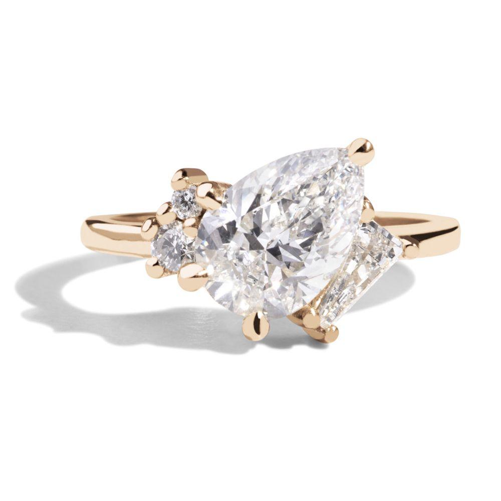 Bario Neal Custom Heirloom Diamond Angled Ring