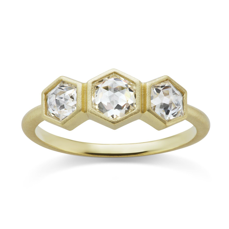 Michelle Fantaci Hexagonal Trio Ring