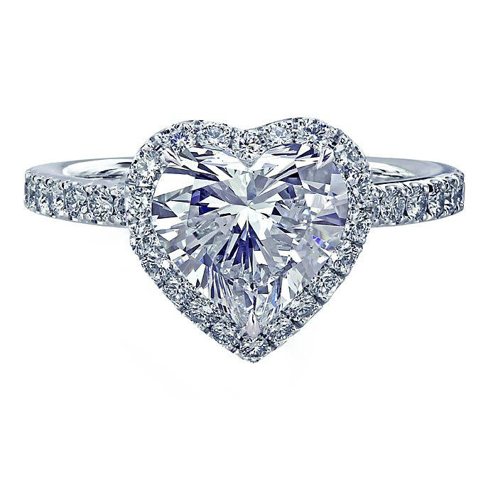 956fe5e8966 Heart-Shaped Engagement Rings