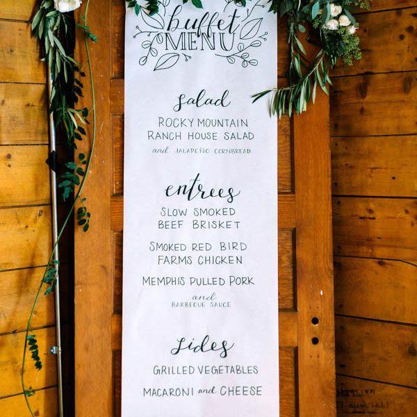 Banner Wedding Menue
