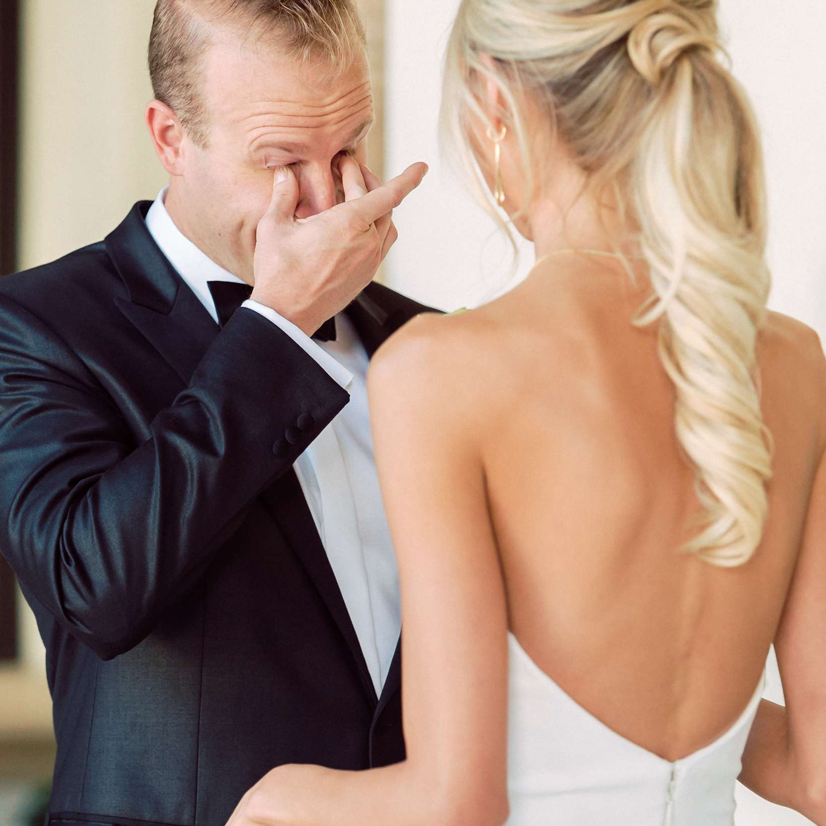 <p>first looking groom crying emotional</p><br><br>