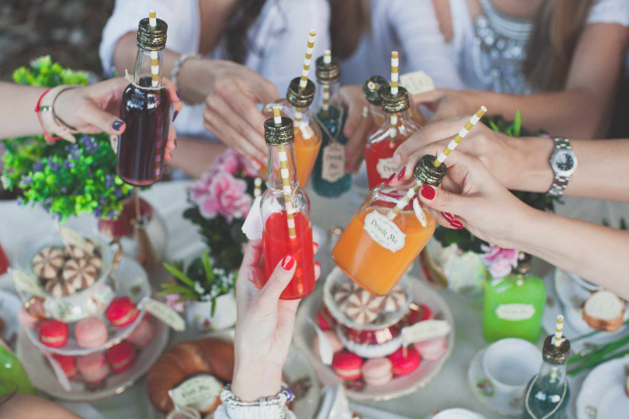 Tea Party with drinks and sweets