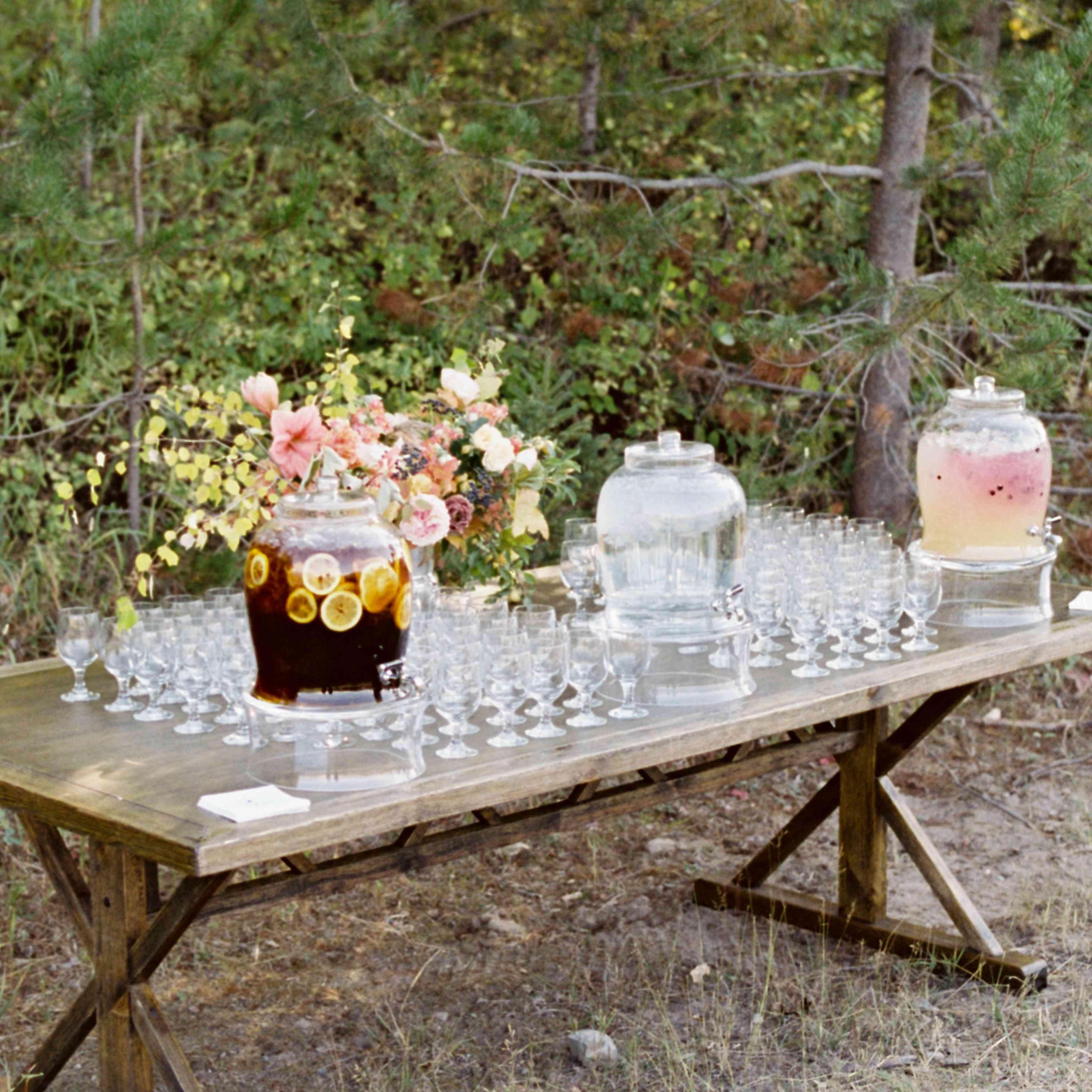 lemonade and ice tea station