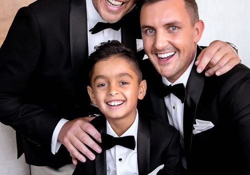 grooms with son