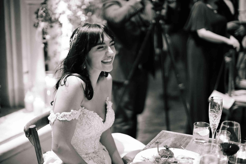 savannah and riker wedding, bride smiling