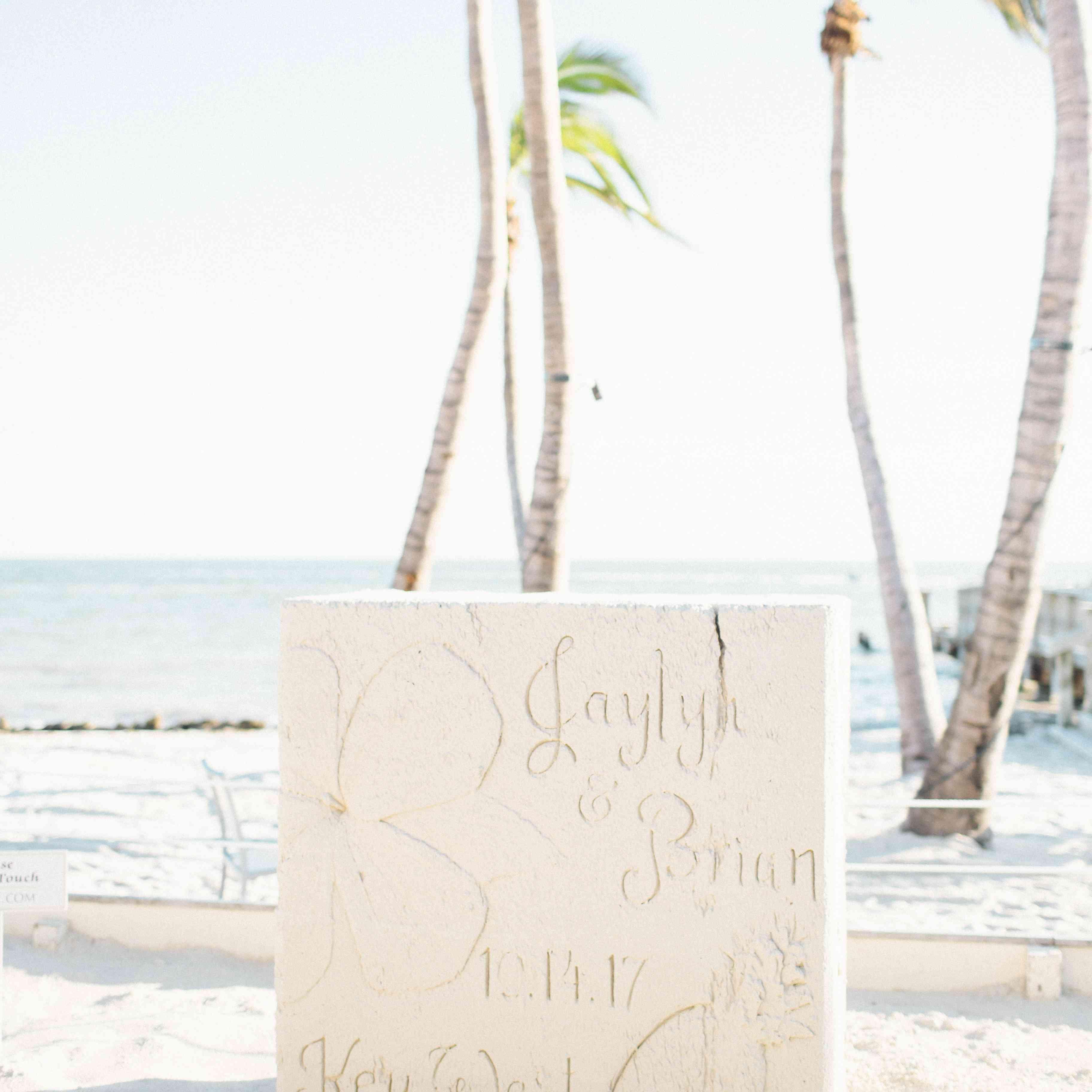 Calligraphy wedding sign