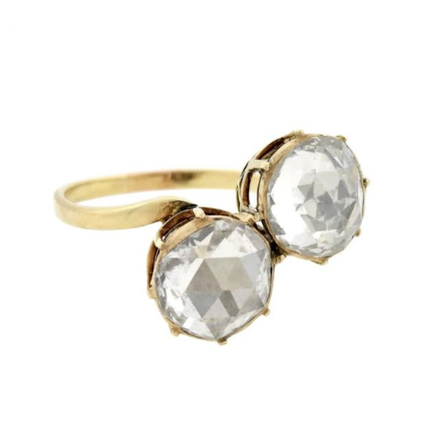 1stDibs Late Victorian 18kt 2.50 Total Carat Rose Cut Diamond