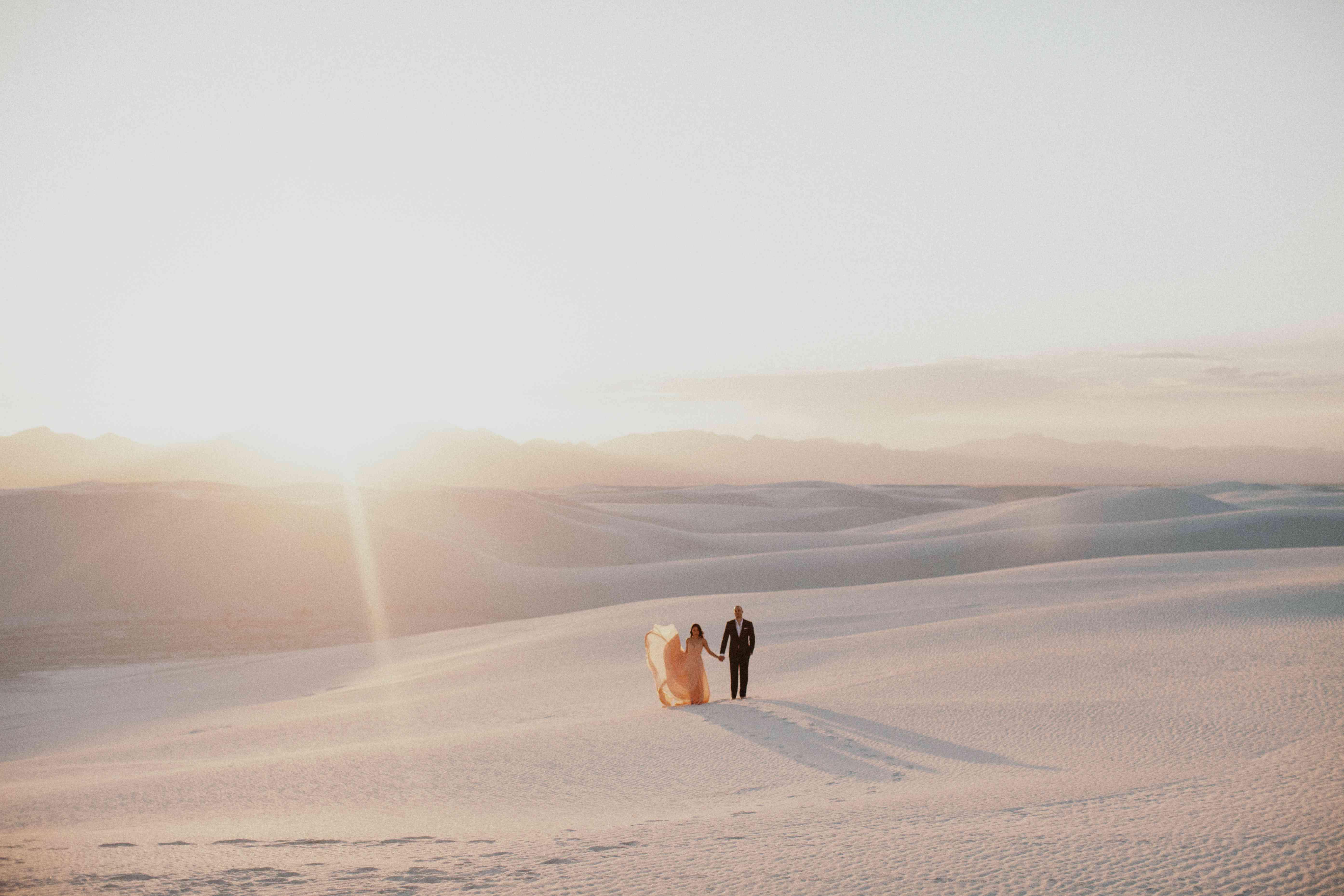 <p>Wedding photo in the Chihuahuan Desert</p>