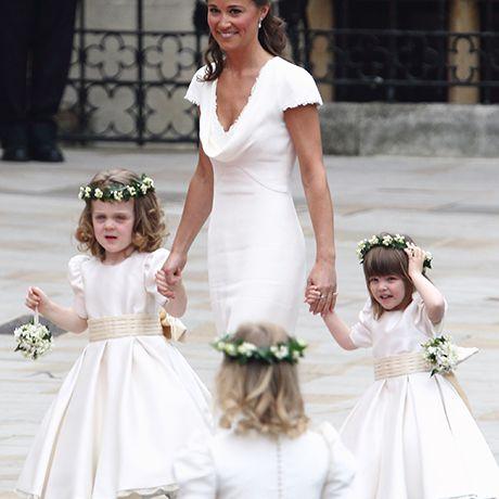 Pippa Middleton as a bridesmaid
