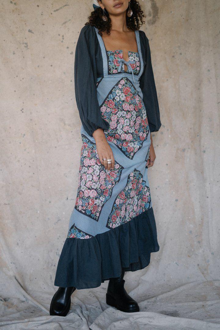 Roam Vintage Seventies Cotton Picnic Dress $190