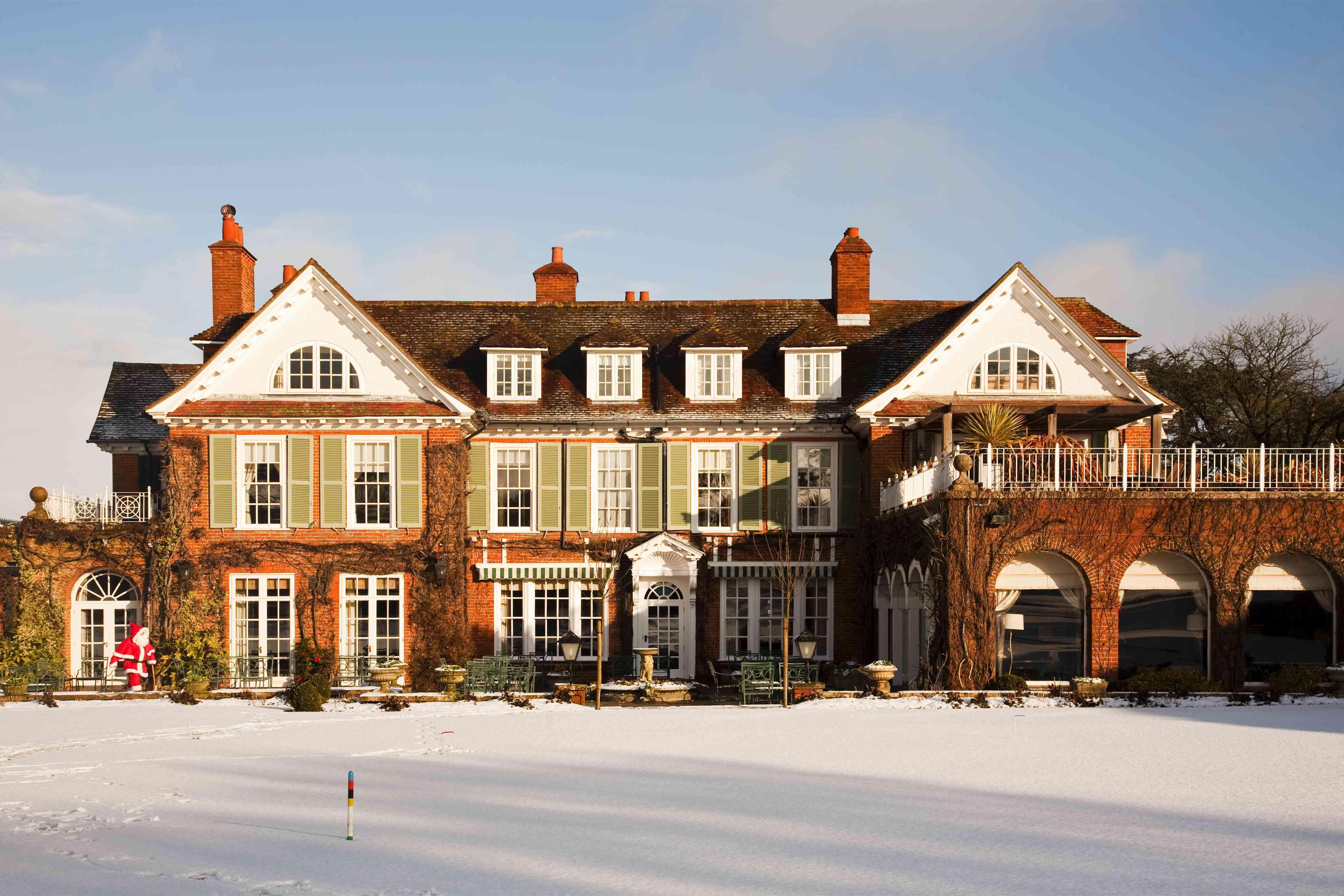 Chewton Glen, an English residence, in the winter