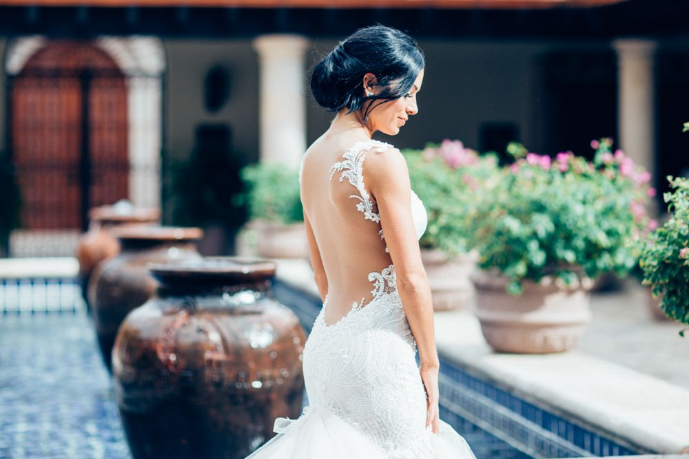 Bride solo shot from side