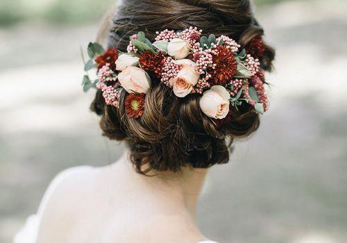 Floral chignon
