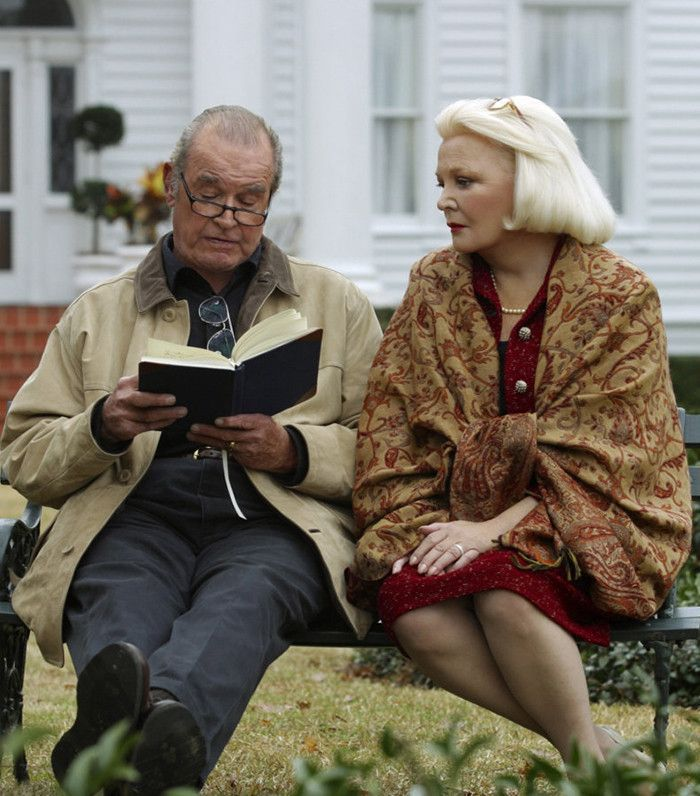 An elderly Noah reads to an elderly Allie in the Notebook film