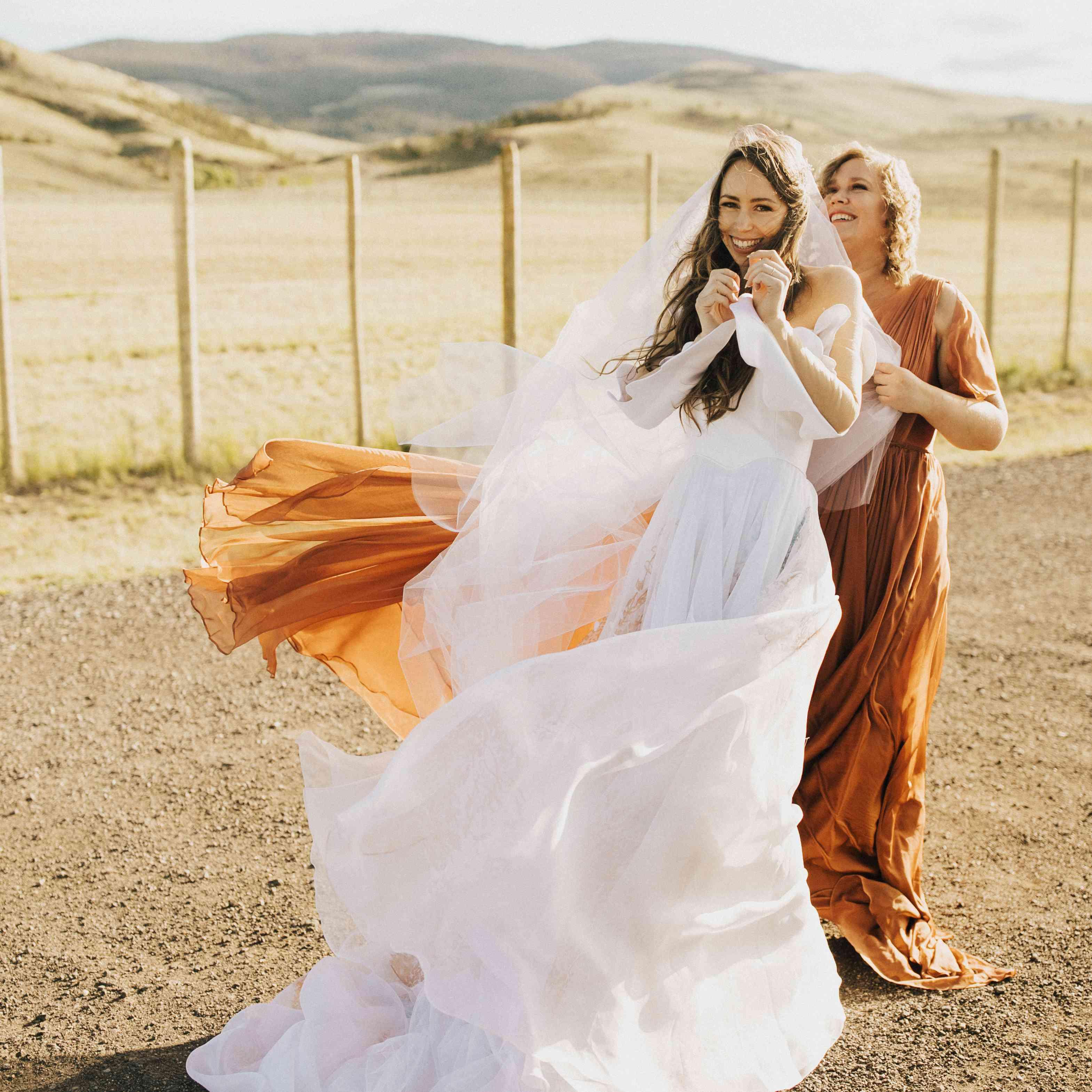 Bridal Designer Leanne Marshall's Intimate Wyoming Elopement