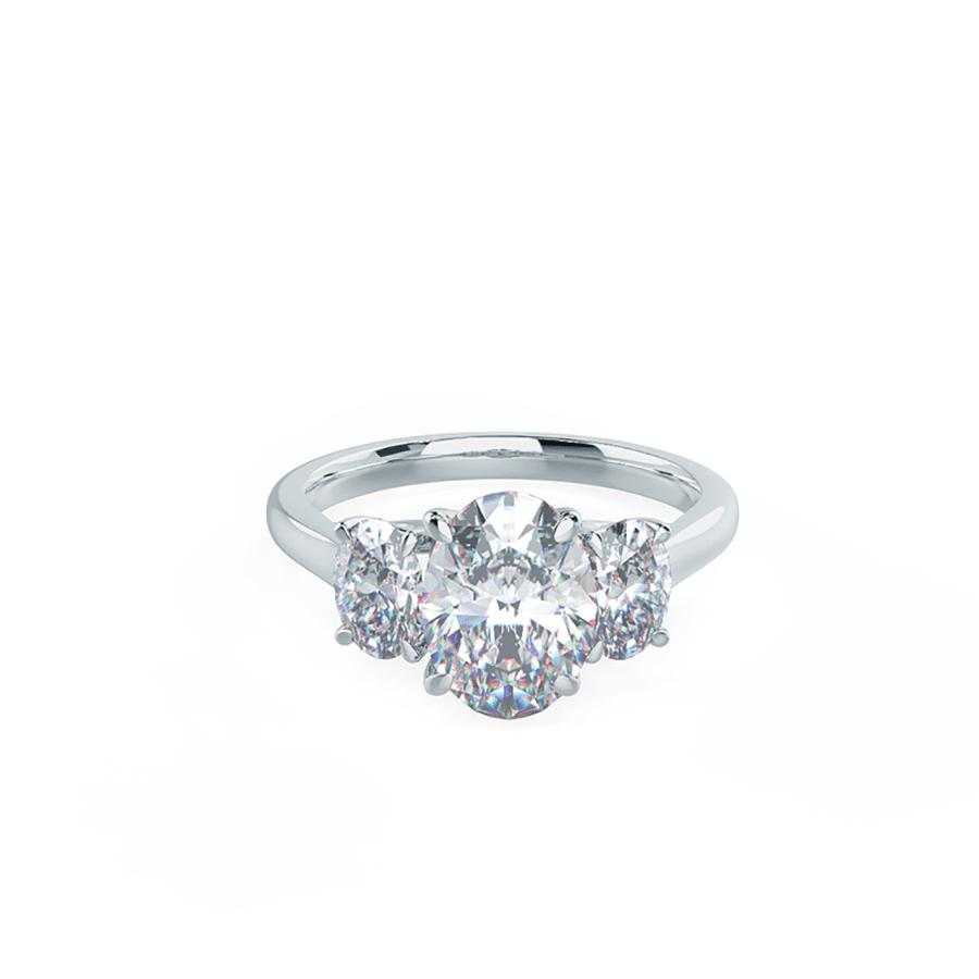 Ada Diamonds Three Stone Oval Setting Ring