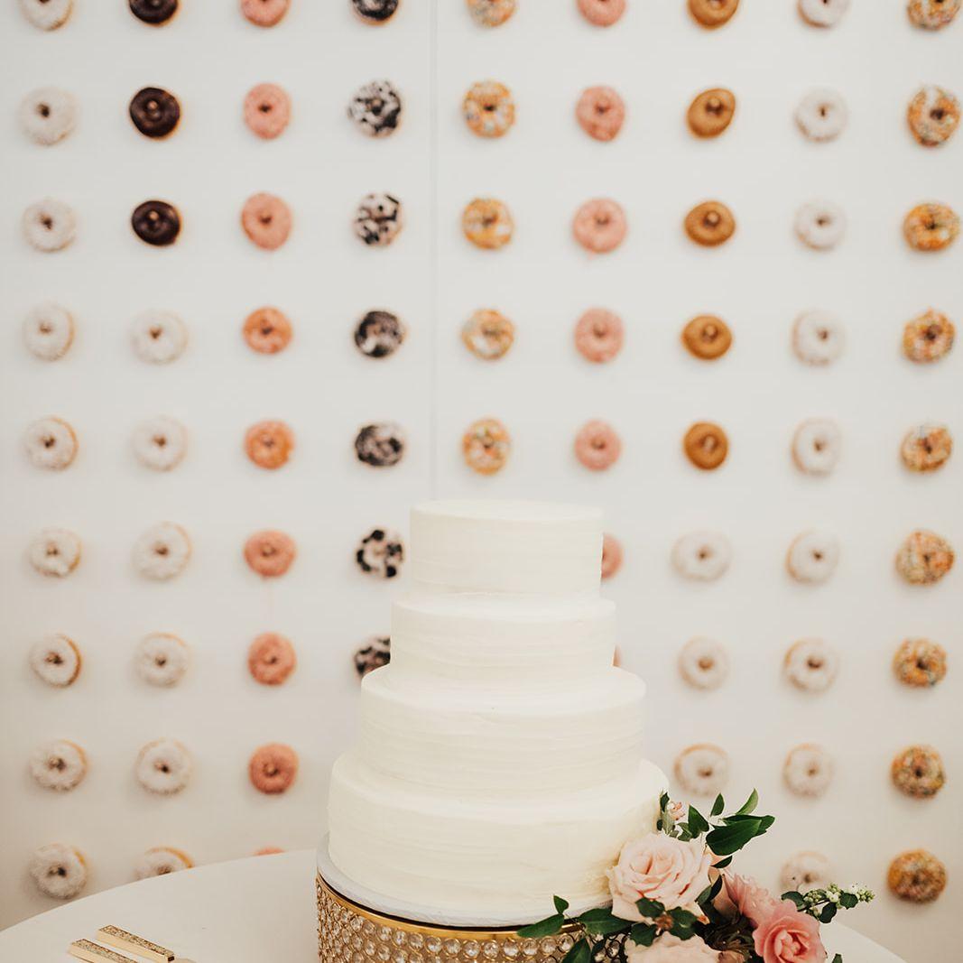 DIY Doughnut Wall Featuring a Variety of Doughnuts